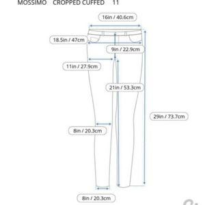 MOSSIMO Jeans - MOSSIMO DENIM VINTAGE CROPPED/CAPRI CUFFED JEANS
